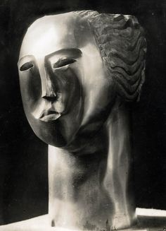 "amare-habeo: "" Ossip Zadkine (1890-1967) Tête de Femme, 1930 """