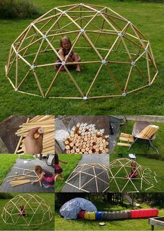 The first 3v #geodesic #dome built using hubs! Big thanks to Pieterjan and his assistant!