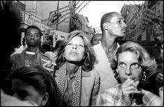 Bruce Gilden 1984. Feast of San Gennero, Little Italy, New York City.