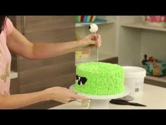 How to Make a Monster Cake - YouTube
