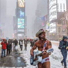 The Naked Cowboy. Times Square, New York City