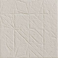 """Based on FOLDED paper Tiles: homogeneous porcelain stoneware. Smooth surface without any reflection as softly brushed - """"Folded"""" designed by Raw Edges for Mutina Tile Patterns, Textures Patterns, Design Projects, Diy Projects, Tiles Texture, Wall Finishes, Wall And Floor Tiles, Stone Tiles, Tile Design"""