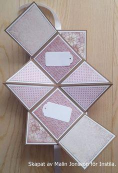 Pop up kort pyssla med instila Mini Albums Scrap, Mini Scrapbook Albums, Scrapbook Cards, Fun Fold Cards, Pop Up Cards, Folded Cards, Pop Up Karten, Karten Diy, Step Card
