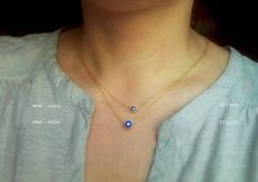 Mini Evil Eye Necklace / Evil Eye Jewelry / Protection Jewellery / Gift for Her / Turkish Nazar Jewelry / Layered Nazar Necklace / N105