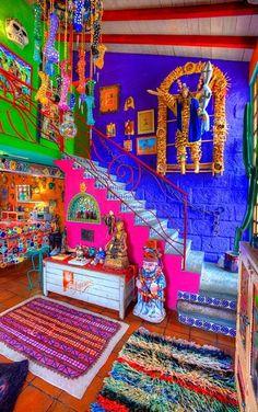 Home Decoration Shops Near Me Mexican Home Decor, Mexican Art, Mexican Style, Bohemian House, Bohemian Decor, Bohemian Patio, Estilo Kitsch, Mexican Colors, Deco Boheme