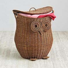 Shop Give a Hoot Owl Hamper. When it comes to designing exclusive, handmade owl hampers, we care deeply. This one even features a removable lid, and comes with a removable liner. Crate And Barrel, Owl Bedrooms, Kids Bedroom Organization, Rv Organization, Playroom Ideas, Toy Basket, Paper Basket, Owl Nursery, Woodland Nursery