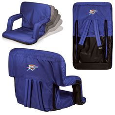 Oklahoma City Thunder Ventura Seat Portable Recliner Chair - Navy