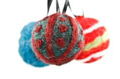 needle felted ornaments - teens