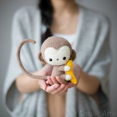 I'm not very skilled at amigurumi but this is worth a try! Crochet Kiko the kawaii baby monkey just in time for Lunar New Year! Detailed step-by-step tutorial & FREE PATTERN available! Crochet Diy, Crochet Crafts, Crochet Dolls, Yarn Crafts, Crochet Projects, Scarf Crochet, Amigurumi Patterns, Crochet Patterns, Crochet Monkey Pattern