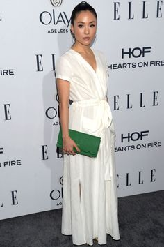 Actress Constance Wu attends ELLE's Annual Women In Television Dinner at Sunset Tower Hotel on January 2016 in West Hollywood, California. Get premium, high resolution news photos at Getty Images Constance Wu, Coloured Girls, Fire Heart, Olay, Red Carpet Looks, Priyanka Chopra, Red Carpet Fashion, Gq, Nice Dresses