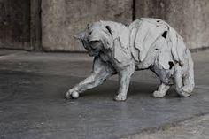 Cat by Belgian sculptor Erwin Peeters (b. 1964)