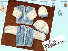 Cute Crochet for twin baby boys.