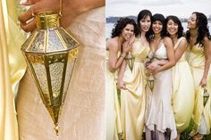 Bridesmaids with lanterns instead of flowers? seems unique with the right lattern