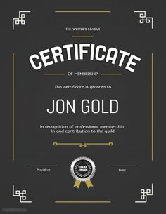 Black and gold certificate of membership printable template Certificate Layout, Certificate Design Template, Flyer Template, Family Collage, Beer Club, Certificate Of Appreciation, Promotional Flyers, Magazine Layout Design, Typographic Design