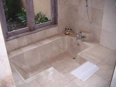 Image result for sunken bathtub
