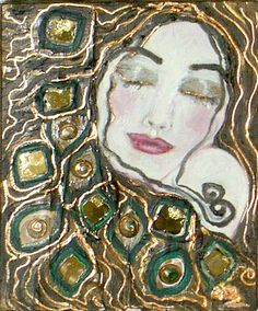 "Figuratif expressionniste - ""La Femme Emeraude"" by, ANNE-MARIE ZILBERMAN"