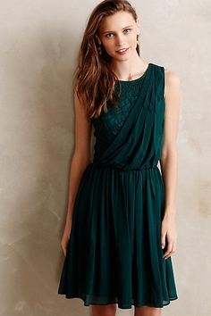 Evergreen Draped Dress #anthropologie #anthrofave