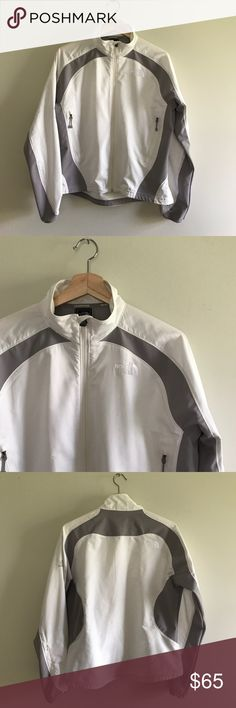 The North Face White Lightweight Flight Jacket Like New!! The North Face Women's White Zip Up Flight Series Jacket. Unlined. 100% Polyester. The North Face Jackets & Coats
