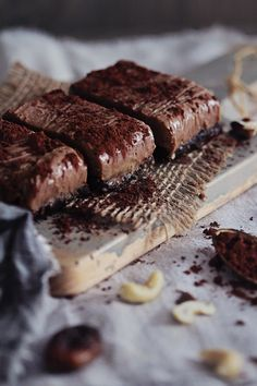 Raw Chocolate Almond Butter Fudge Bars   The Awesome Vegan