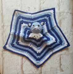 Cat snuggy - Security blanket - Lovey blanket - Baby shower gift - Newborn - Crochet blanket - Animal blanket - Cat blanket - Custom blanket by bellafarfallaboutiqu. Explore more products on http://bellafarfallaboutiqu.etsy.com