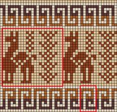 Resultado de imagen para tejido punto jacquard  animales llama