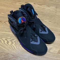 110b91ad3f8 Nike Air Jordan VIII 8 Retro Aqua Black 305381-025 NEW Men's Size 13 305381