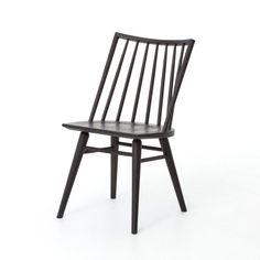 Description Offering a cleaner, more modern take on the traditional Windsor design, the Four Hands Lewis Windsor Dining Chair can complement any decor from the