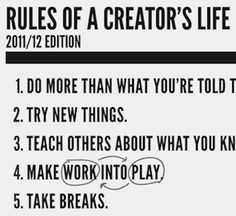 Poster Pick // Creative Something's Rules of a Creator's Life