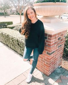 """32601ef939a Jacqueline Lorraine on Instagram  """"Our Classic Black Sweater is such a  steal because it s only  22! 😍 ...and have we mentioned that it s the  softest fabric ..."""