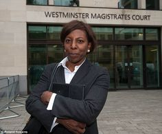 Long saga: This is Constance Briscoe in June 2013 at Westminster Magistrates to answer cha...
