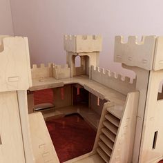 Beautiful wooden Castle toy plans. Pattern vector model for CNC router and laser cutting. Play castle. Stronghold. Plywood 4mm/5mm/6mm.