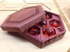 Awesome wooden boxes for gaming dice!
