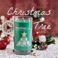 Christmas Tree Soy Candle by Diamond Candles with a HIDDEN RING inside valued $10-$5,000 in EVERY ring candle! Great gift idea for Christmas!