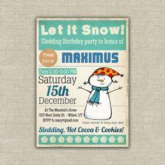 Sledding Party Invitation
