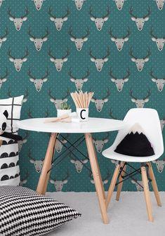 Gray Deer Removable Wallpaper | COLORAYdecor.com