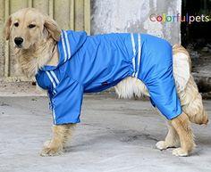 Large Dog Rain Coat Labrador Raincoat Pet Poncho Rain Slicker XXL Blue >>> Read more  at the image link.