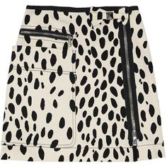 Sonia by Sonia Rykiel Dalmatian-print cotton-twill skirt ($126) ❤ liked on Polyvore