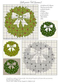 Free Christmas Cross Stitch Patterns | Found on legrenierdezoe.canalblog.com