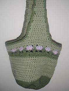 crochet pattern - lilac meadows hobo bag