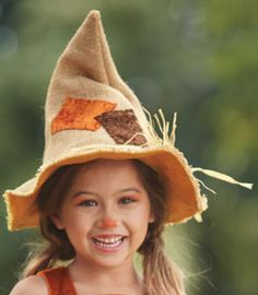 sweet scarecrow hat girls costume accessory - Chasing Fireflies