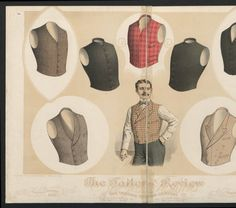 1896-1913, Plate 011. 1The Metropolitan Museum of Art, New York. Costume Institute Fashion Plates, mens 1880-1939. #gentleman #mensfashion | Choosing the perfect vest.
