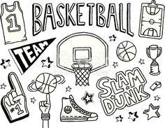 Free Coloring Sheet Of Basketball For Kindergarten ...