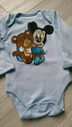 Body pictat manual Baby Mickey, Manual, Onesies, Album, Kids, Clothes, Children, Tall Clothing, Textbook