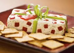 receta-aperitivo-navidad-regalo con galletas, queso crema y vegetales