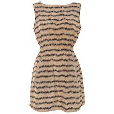 MELA LOVES LONDON Mela People print zip pocket dress ($40) ❤ liked on Polyvore