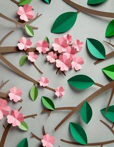 Flower Template Spring Crafts Handmade Flowers Flower Crafts Flower Patterns Decor Crafts Paper Flowers Origami Crafts For Kids Paper Flowers Diy, Flower Crafts, Origami Paper, Diy Paper, Diy And Crafts, Crafts For Kids, Kids Diy, Decor Crafts, Elephant Park