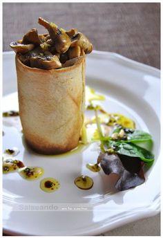 Salseando en la cocina: Ensalada tibia de foie y champiñones belgas