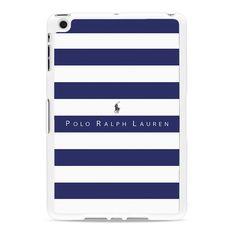 Polo Ralph Lauren Blue White Stripes Ipad Mini 2 Case