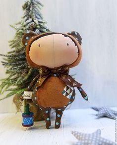 Купить тильда кукла - коричневый, тильда, тильда кукла, мишка, мишка в подарок, хлопок 100%