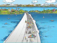 SR 520 Floating Bridge Grand Opening Celebration - Activities Calendar - ParentMap